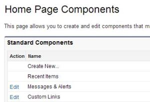 edit home page components